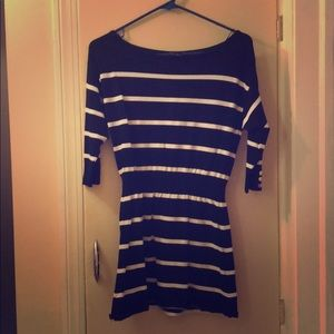 White House Black market Striped Tunic